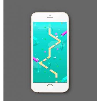 HTML5小游戏无尽的河流,手机小游戏源码
