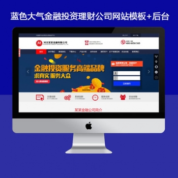 大气金融企业网站,金融公司企业站